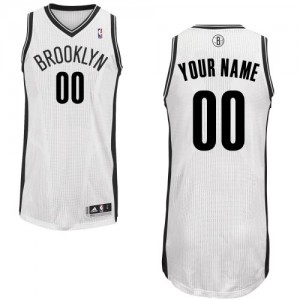 Maillot Brooklyn Nets NBA Home Blanc - Personnalisé Authentic - Homme