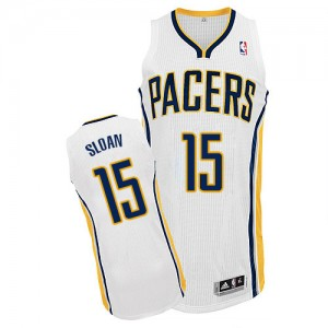 Maillot Authentic Indiana Pacers NBA Home Blanc - #15 Donald Sloan - Homme