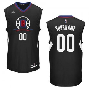 Maillot NBA Noir Swingman Personnalisé Los Angeles Clippers Alternate Femme Adidas