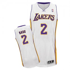 Maillot Authentic Los Angeles Lakers NBA Alternate Blanc - #2 Brandon Bass - Homme