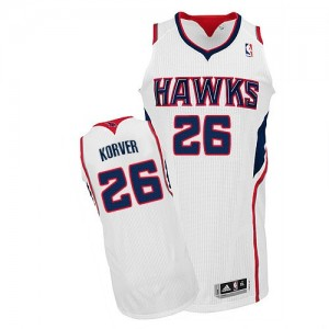 Maillot NBA Authentic Kyle Korver #26 Atlanta Hawks Home Blanc - Homme