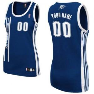Oklahoma City Thunder Personnalisé Adidas Alternate Bleu marin Maillot d'équipe de NBA Le meilleur cadeau - Authentic pour Femme