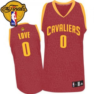 Maillot NBA Swingman Kevin Love #0 Cleveland Cavaliers Crazy Light 2015 The Finals Patch Rouge - Homme