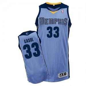 Maillot Adidas Bleu clair Alternate Authentic Memphis Grizzlies - Marc Gasol #33 - Homme