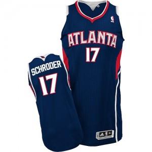 Maillot Authentic Atlanta Hawks NBA Road Bleu marin - #17 Dennis Schroder - Homme