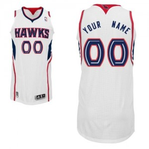 Maillot NBA Atlanta Hawks Personnalisé Authentic Blanc Adidas Home - Homme