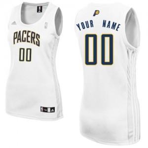 Indiana Pacers Swingman Personnalisé Home Maillot d'équipe de NBA - Blanc pour Femme