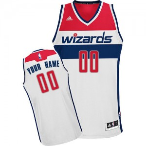Maillot Washington Wizards NBA Home Blanc - Personnalisé Swingman - Femme