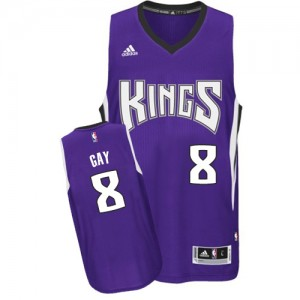 Maillot Adidas Violet Road Swingman Sacramento Kings - Rudy Gay #8 - Homme