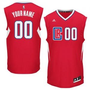 Los Angeles Clippers Authentic Personnalisé Road Maillot d'équipe de NBA - Rouge pour Enfants