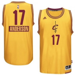 Maillot NBA Authentic Anderson Varejao #17 Cleveland Cavaliers 2014-15 Christmas Day Or - Homme