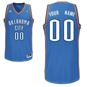 Maillot NBA Bleu royal Swingman Personnalisé Oklahoma City Thunder Road Homme Adidas