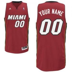 Miami Heat Personnalisé Adidas Alternate Rouge Maillot d'équipe de NBA Vente pas cher - Swingman pour Homme