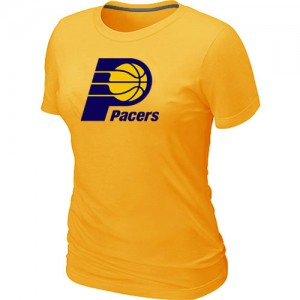 T-shirt principal de logo Indiana Pacers NBA Big & Tall Jaune - Femme