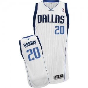 Maillot Authentic Dallas Mavericks NBA Home Blanc - #20 Devin Harris - Homme