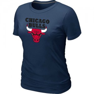T-shirt principal de logo Chicago Bulls NBA Big & Tall Marine - Femme