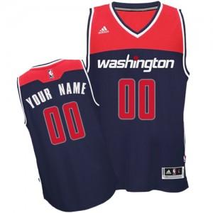 Washington Wizards Authentic Personnalisé Alternate Maillot d'équipe de NBA - Bleu marin pour Homme