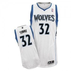 Maillot Authentic Minnesota Timberwolves NBA Home Blanc - #32 Karl-Anthony Towns - Homme
