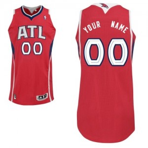 Maillot NBA Rouge Authentic Personnalisé Atlanta Hawks Alternate Homme Adidas