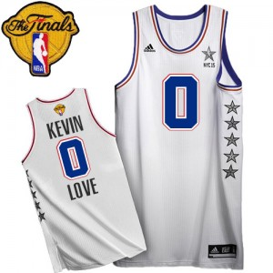 Maillot Swingman Cleveland Cavaliers NBA 2015 All Star 2015 The Finals Patch Blanc - #0 Kevin Love - Homme