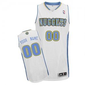 Denver Nuggets Personnalisé Adidas Home Blanc Maillot d'équipe de NBA boutique en ligne - Authentic pour Enfants