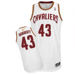 Maillot Adidas Blanc Home Authentic Cleveland Cavaliers - Brad Daugherty #43 - Homme