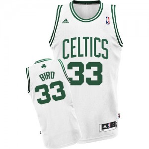 Maillot NBA Swingman Larry Bird #33 Boston Celtics Home Blanc - Homme