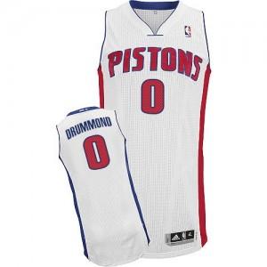 Detroit Pistons Andre Drummond #0 Home Authentic Maillot d'équipe de NBA - Blanc pour Homme