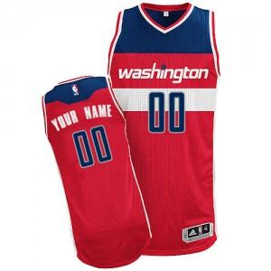 Maillot NBA Authentic Personnalisé Washington Wizards Road Rouge - Homme