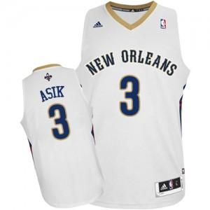 New Orleans Pelicans #3 Adidas Home Blanc Authentic Maillot d'équipe de NBA Soldes discount - Omer Asik pour Homme