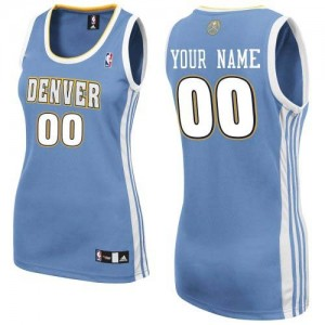 Maillot NBA Authentic Personnalisé Denver Nuggets Road Bleu clair - Femme