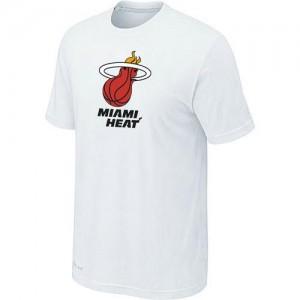 T-shirt principal de logo Miami Heat NBA Big & Tall Blanc - Homme