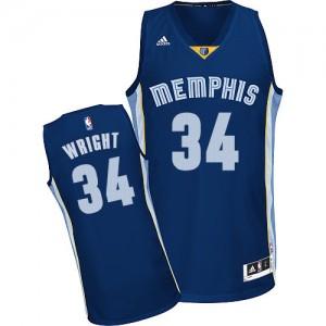 Maillot NBA Memphis Grizzlies #34 Brandan Wright Bleu marin Adidas Swingman Road - Homme