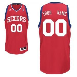 Maillot NBA Swingman Personnalisé Philadelphia 76ers Road Rouge - Enfants