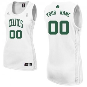 Maillot NBA Swingman Personnalisé Boston Celtics Home Blanc - Femme