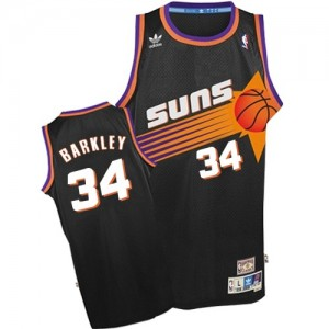 Maillot NBA Noir Charles Barkley #34 Phoenix Suns Throwback Authentic Homme Adidas