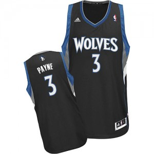 Maillot NBA Swingman Adreian Payne #3 Minnesota Timberwolves Alternate Noir - Homme