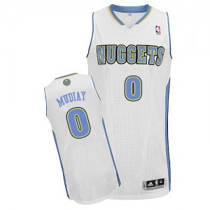 Maillot Authentic Denver Nuggets NBA Home Blanc - #0 Emmanuel Mudiay - Homme