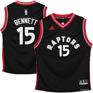Maillot NBA Toronto Raptors #15 Anthony Bennett Noir Adidas Authentic - Homme