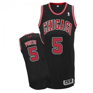 Maillot NBA Noir Bobby Portis #5 Chicago Bulls Alternate Authentic Homme Adidas