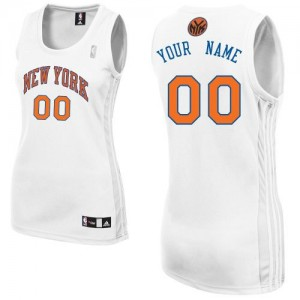 Maillot Adidas Blanc Home New York Knicks - Authentic Personnalisé - Femme