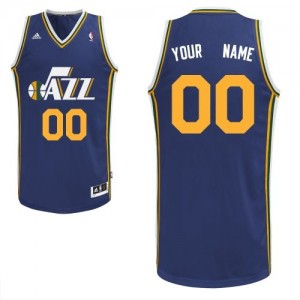 Maillot NBA Bleu marin Swingman Personnalisé Utah Jazz Road Homme Adidas