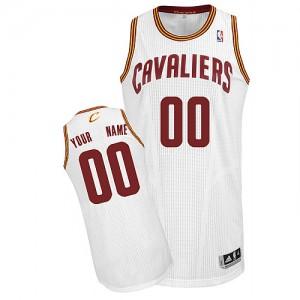 Cleveland Cavaliers Authentic Personnalisé Home Maillot d'équipe de NBA - Blanc pour Homme