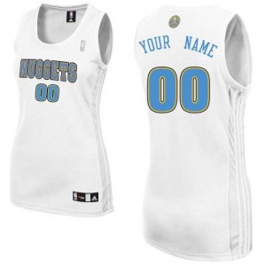 Maillot NBA Denver Nuggets Personnalisé Authentic Blanc Adidas Home - Femme