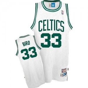 Maillot Authentic Boston Celtics NBA Throwback Blanc - #33 Larry Bird - Enfants