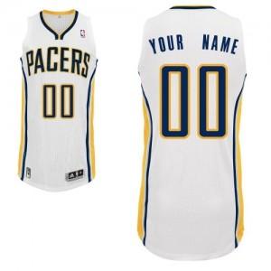 Indiana Pacers Authentic Personnalisé Home Maillot d'équipe de NBA - Blanc pour Homme