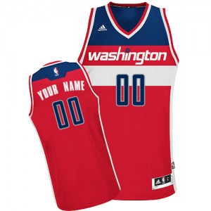 Maillot NBA Rouge Swingman Personnalisé Washington Wizards Road Enfants Adidas
