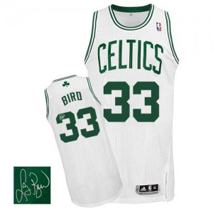 Boston Celtics Larry Bird #33 Home Autographed Authentic Maillot d'équipe de NBA - Blanc pour Homme