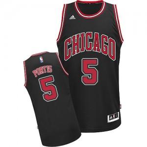 Maillot Adidas Noir Alternate Swingman Chicago Bulls - Bobby Portis #5 - Homme