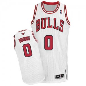 Maillot NBA Chicago Bulls #0 Aaron Brooks Blanc Adidas Authentic Home - Homme